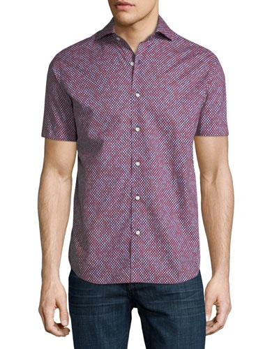 Geo-Print Short-Sleeve Shirt