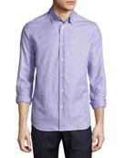 Tight-Circle Sport Shirt, Lilac/Purple
