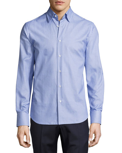 Tight-Circle Sport Shirt, Blue/Navy