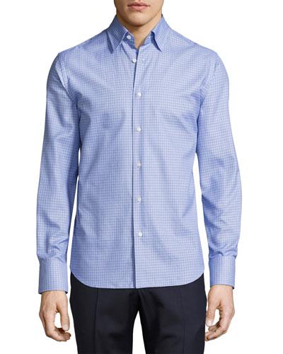 Tight-Circle Sport Shirt, Blue/Navy