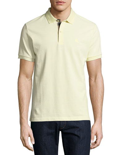 Short-Sleeve Oxford Polo Shirt, Yellow