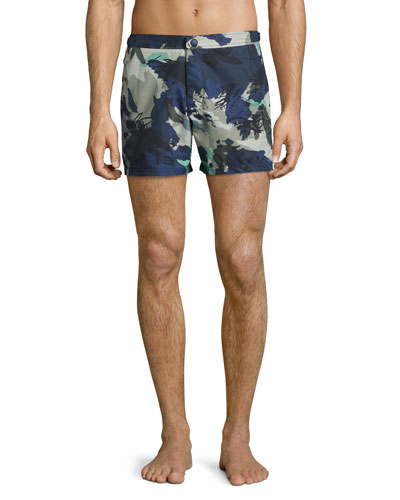 Gilmoor Printed Swim Trunks, Navy
