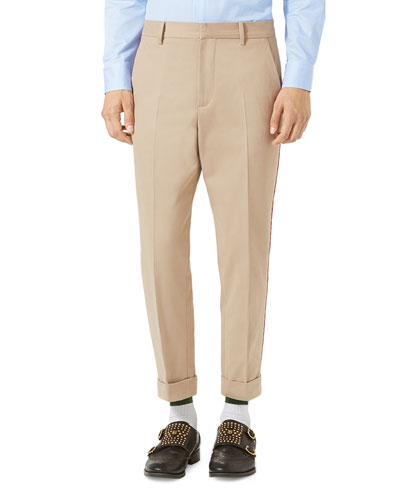 Brushed Cotton Chino Pants, Oatmeal