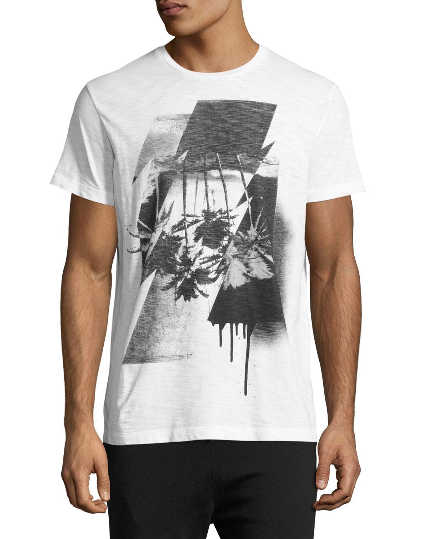 Palm Tree Graphic T-Shirt, White