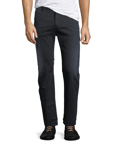 Jifer 0679R Slim-Straight Jeans, Black