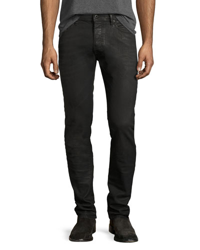 Thommer 0859X Coated Skinny Jeans, Black