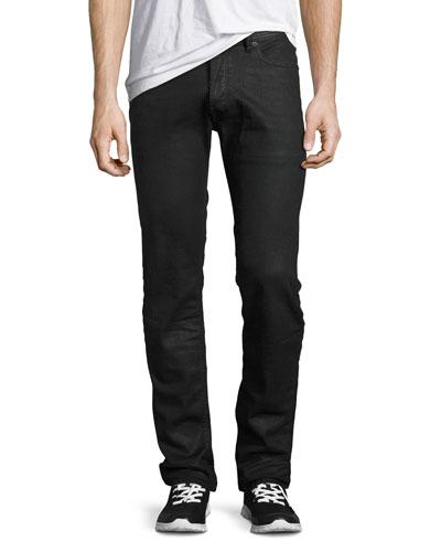 Tepphar 0679T Slim-Straight Jeans, Black