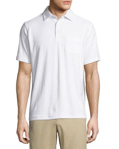 Seaside Terry Polo Shirt, White