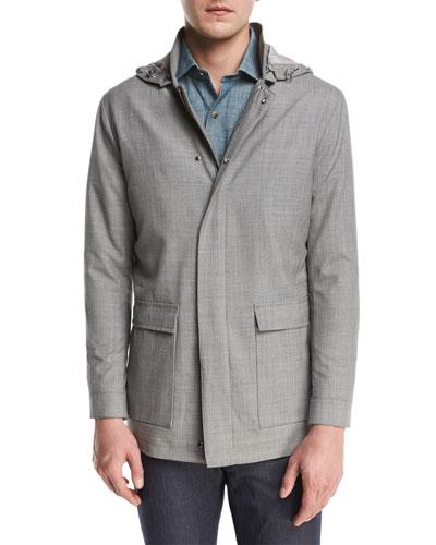 Collection Mirabeau Water-Repellant Merino Wool Field Jacket