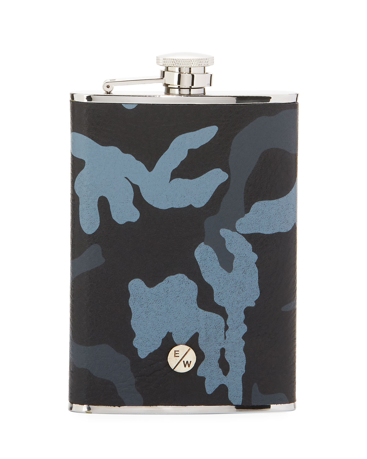 Camouflage Leather Hip Flask