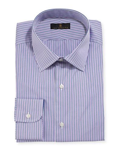 Gold Label Striped Dress Shirt, Purple/Gray
