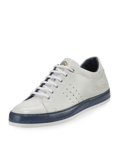 Calf Leather Low-Top Sneaker