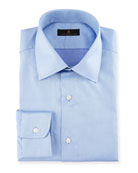 Gold Label Micro-Herringbone Dress Shirt, French Blue
