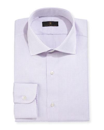 Gold Label Micro-Gingham Dress Shirt, Purple