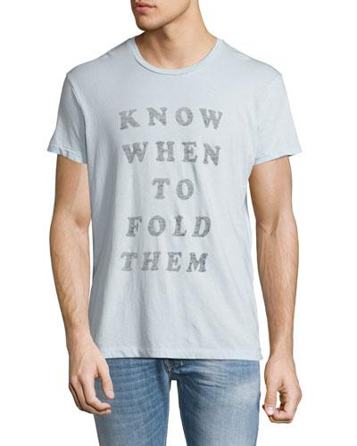 Fold Them Graphic T-Shirt, Light Blue