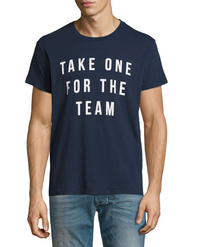 For the Team Graphic T-Shirt, Navy