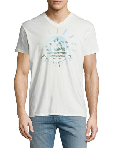 Tripper Palm Tree Graphic T-Shirt, White