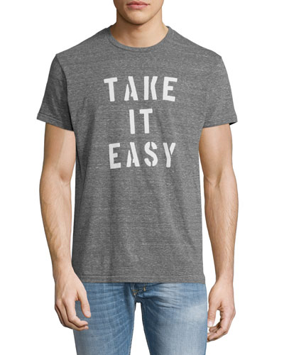 Take It Easy Graphic T-Shirt, Light Gray