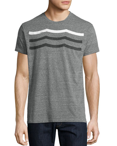 Waves Crewneck T-Shirt, Gray