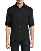 Jersey Pocket Shirt, Black