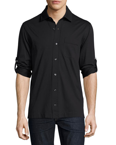 Jersey Pocket Shirt, Black