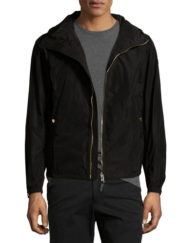Fullerton Hooded Lightweight Technical Jacket, Black