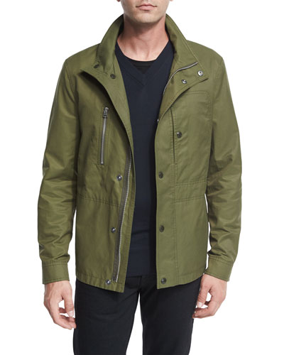 Short Field Coat, Olive