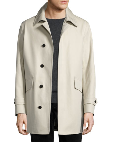 Swanley Cotton Gabardine Raincoat, Stone