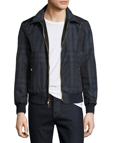 Carlford Reversible Technical Bomber Jacket, Navy
