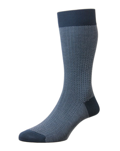 Men's Fabian Chevron Pattern Egyptian Cotton Socks