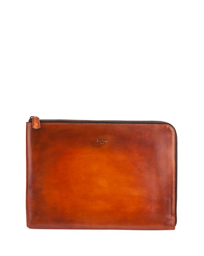 Leather Business Portfolio, Brown