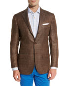 Cashmere-Blend Three-Button Sport Coat, Brown