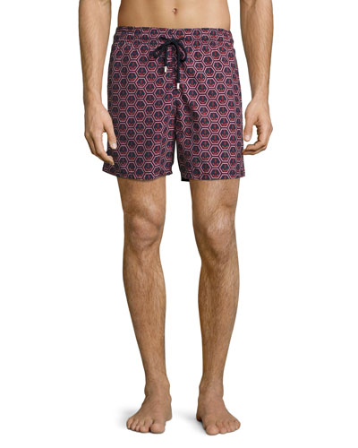 Moorea Anchors Swim Trunks, Navy