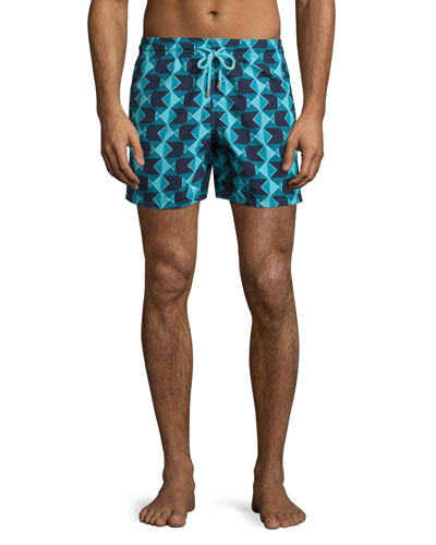 Moorea Graphic Fish Swim Trunks