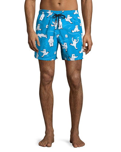 Moorea Bears on Ice Swim Trunks, Turmeric