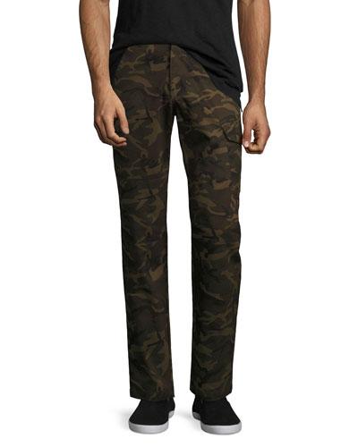 Camo-Print Utility Cargo Pants