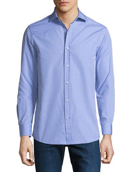 Ralph Lauren Purple Label Men's Bond End-on-End Dress Shirt