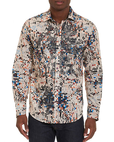 Limited Edition Galaxy Complex Sport Shirt, Cream