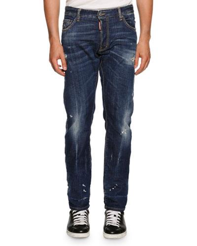 Mac Daddy BB2 Straight-Leg Jeans, Blue
