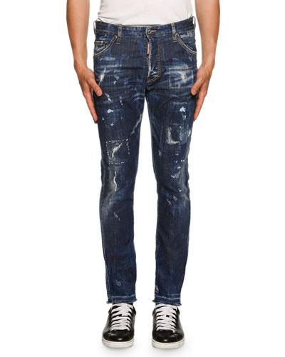 Cool Guy American Pie Jeans, Blue