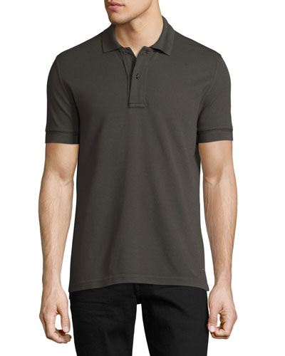 Pique Polo Shirt, Taupe