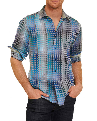 Limited Edition Landry Sport Shirt, Turquoise