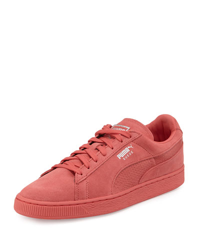 Men's Suede Classic Mono Reptile Sneakers, Rose