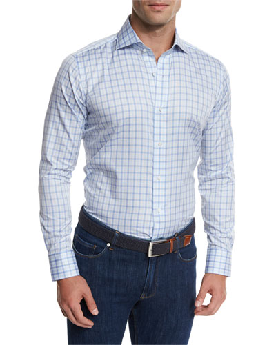 Terrace Check Sport Shirt, Lilac