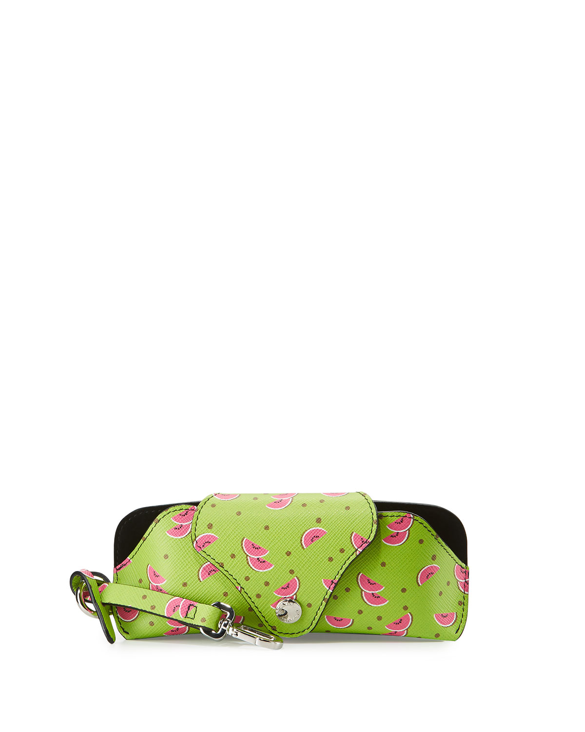 Saffiano Watermelon Glasses Case, Green