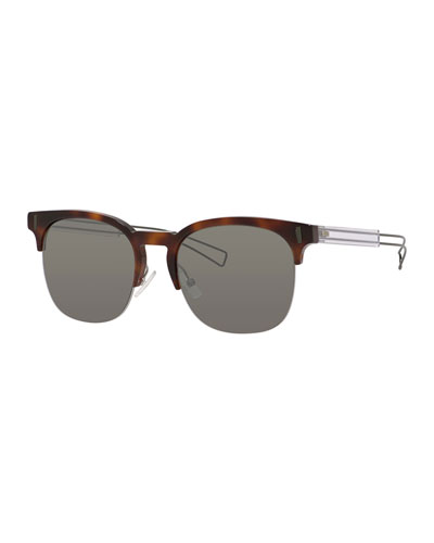 Black Tie Half-Rim Universal-Fit Sunglasses