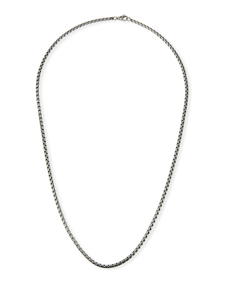 David Yurman Men's Medium Box Chain, 26""