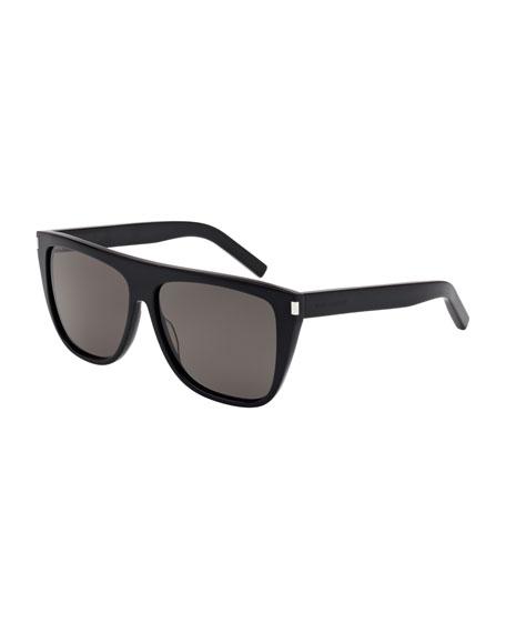 Saint Laurent Men's SL 1 Slim Plastic Sunglasses