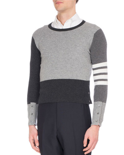 Mix-Knit Cashmere Sweater