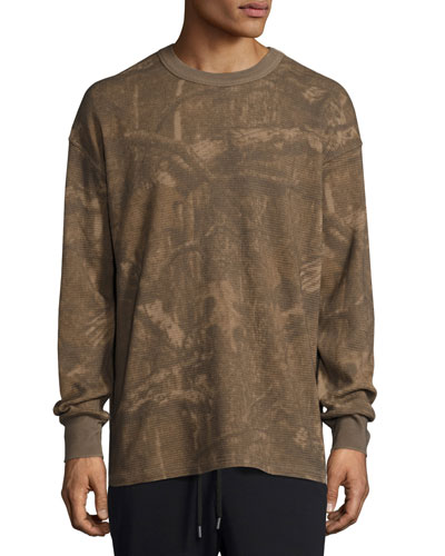 Camouflage-Print Thermal Long-Sleeve Tee